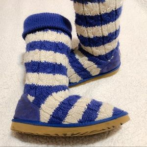 UGG Classic Tall Stripe Cable Knit Sheepskin Boots